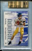 2000 Skybox Impact Football #27 Tom Brady Rookie Card RC Graded BGS Gem Mint 9.5