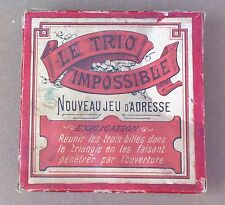 Ancien jeu d'adresse LE TRIO IMPOSSIBLE billes old game of skill ball collection