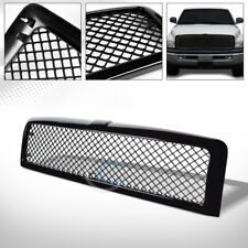 GLOSSY BLACK MESH FRONT HOOD BUMPER GRILL GRILLE ABS 94-02 DODGE RAM 1500 2500
