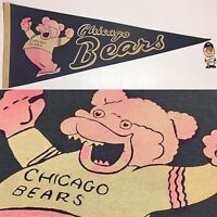1960's Chicago Bears Illinois NFL Football Full Size Pennant Flat Ship 12x30