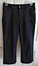 CHICO'S PLATINUM DENIM Black Jeans Capris Sz 1.5