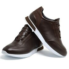 Mens New Casual Smart Boys Black Work White Designer Tennis Lace Up Gym Trainers