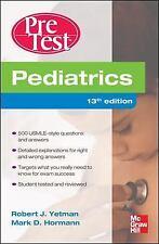 PreTest: Pediatrics 13th Ed by Yetman, Hormann USMLE [PDF File/E-Book]
