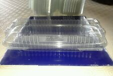 20 HINGED traybake shortbread CONTAINERS Plastic food packaging display boxes,