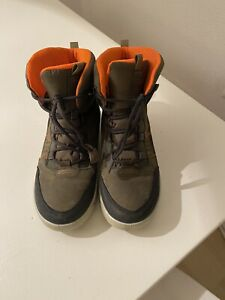 Ecco warme Winter-Stiefel Gore-Tex, grün mit orange, Gr.36