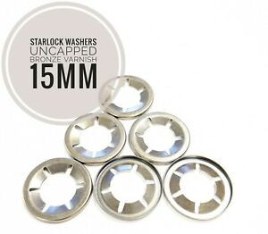 Starlock Washers For Shaft Retaining Push On Clips 15mm Spring Steel Star