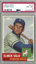 1953 Topps #122 Elmer Valo PSA 8