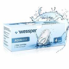 4x Wessper Aquamax Wasserfilter für BRITA Maxtra, Marella, AmazonBasics WES003