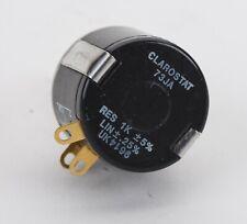 New Listingclarostat 73ja 1k 2w 5 Precision Wire Wound 10 Turn Potentiometer