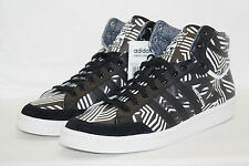ADIDAS ORIGINALS AMERICANA HI 88 T 41 1/3 UK 7,5 Noir Blanc Basket