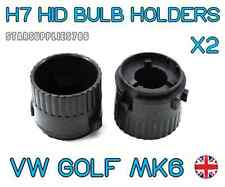 2x H7 VW GOLF MK6 HID HEADLIGHT BULB HOLDERS VW CONVERSION KIT BULB HOLDERS 477