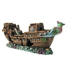 New ListingSlocme Aquarium Pirate Ship Decorations Fish Tank Ornaments - Resin Shipwreck
