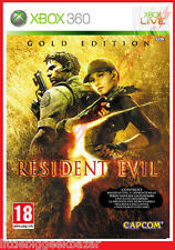 RESIDENT EVIL 5 Gold Edition X-box 360 xbox Microsoft Jeu Video # NEUF#