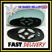 Left Passenger Side Wing Mirror Glass ELECTRIC HEATED  BLUE CONVEX BMW 1 04-09