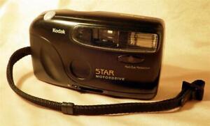 Kodak Star Motordrive 35mm Film Camera w Autowind & Electronic Flash DX WORKS