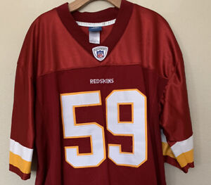 Washington Redskins London Fletcher Reebok On Field NFL Jersey Men's Size 52