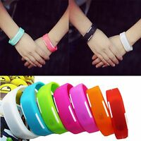 Sports Silicone Digital Wrist Watch Rubber LED Bracelet Watches Unisex Hot Sale