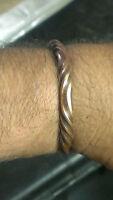 Men's Brass Viking Bracelet. Medieval, SCA, Larp, gift, jewelry, hand-made
