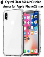 Shockproof 360° Silicone Protective gel Clear Case Cover For iPhone XS MAX X 8 7
