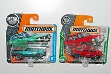 Matchbox JOB LOT x 2 `90 VW VOLKSWAGEN GOLF COUNTRY - RED & GREEN