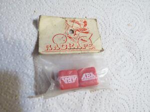 STEVE VELTMANS RED ABA RADKAPS VALVE CAPS NOS 80S BMX CRUISER FREESTYLE COVERS