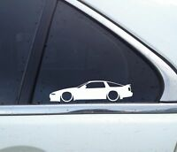 2x Lowered car outline stickers - for Toyota Supra Mk3 (A70) JDM