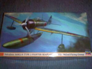HASEGAWA 1/48 SCALE WWII JAPANESE NAKAJIMA A6M2-N TYPE 2 FIGHTER SEAPLANE 07376