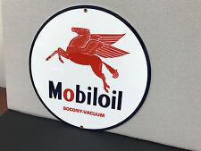 Mobil Oil gasoline racing vintage advertising sign