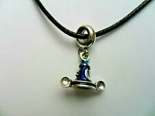 Mickey Mouse Magician's Hat Pendant Leather  Necklace