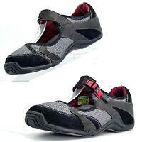 AHNU TEVA Women's Mary Jane Comfort Walking Hiking Shoes Flats Black Red / US 7