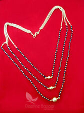 MS413, Daphne 3 Line Mangalsutra for Women, Cute Gift for Wife