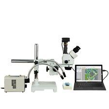 Omax 2.1X-270X 5Mp Usb3 Digital Stereo Boom Microscope+50W Led Gooseneck Lights