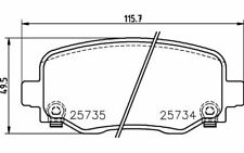 4x BREMBO Bremsbeläge vorne P 61 061 Mister Auto Autoteile