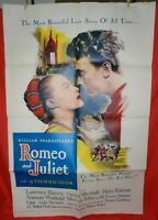 1 Vintage One Sheet Movie Poster for Romeo and Juliet, 1955, Laurence Harvey