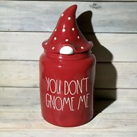 Rae Dunn YOU DON'T GNOME ME Large Canister ~ HTF NEW Christmas Release NWT