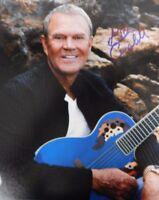 """Rhinestone Cowboy"" Glen Campbell Hand Signed 8X10 Color Photo Todd Mueller COA"