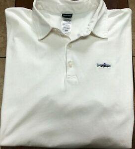 Patagonia s/s polo shirt size L white