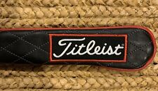 Titleist Jet Black Alignment Stick Cover, Tour Patch 100% Leather BNIP
