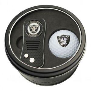 Raiders Las Vegas Oakland NFL Swtichfix Divot Tool w/ Marker Golf Ball Tin