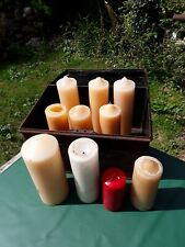 More details for candles. large candles. deed box full of big candles. free uk postage