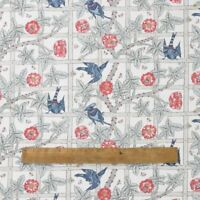 William Morris Trellis Heavy Weight Cotton Floral Fabric By The Half Metre