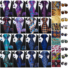 Silk Mens Ties Floral Paisely Red Blue Black Pink Gold Men Tie Necktie Set Party