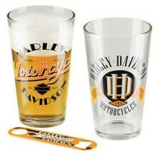Harley-Davidson Ride Free Pint Glass Set w/ Opener - Set of 2 - 16 oz. HDL-18798