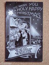 R&L Postcard: Holy Happy Christmas, Jesus, God, Angel, Religious, Superb Design