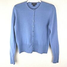 Ann Taylor 100% Pure 2 Ply Cashmere Sz M Long Sleeve Cardigan Women Sweater