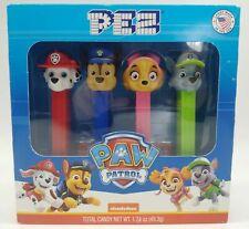 Paw Patrol PEZ Dispensers Set Of 4 Chase + Skye + Rocky + Marshall *NEW Gift Box