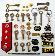 Vintage Lot 40+ NYC & Other Railroad Brass Buttons Pins & MORE LOOK