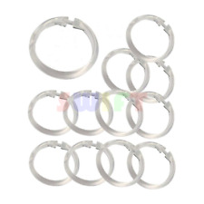 12 Shower Curtain Rings Easy Snap On Clear Plastic Bathroom Liner Hooks