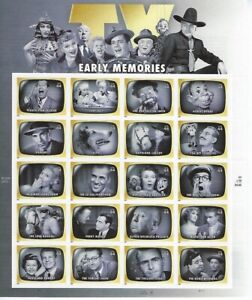 #4414 44cent TV EARLY MEMORIES MNH SHEET OF 20 STAMPS - BCV $40.00 - Q66