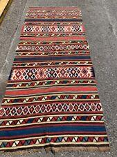 "Antique Kazak Kilim Runner - 4' 1"" x 9' 8"" (Flat Weave)"